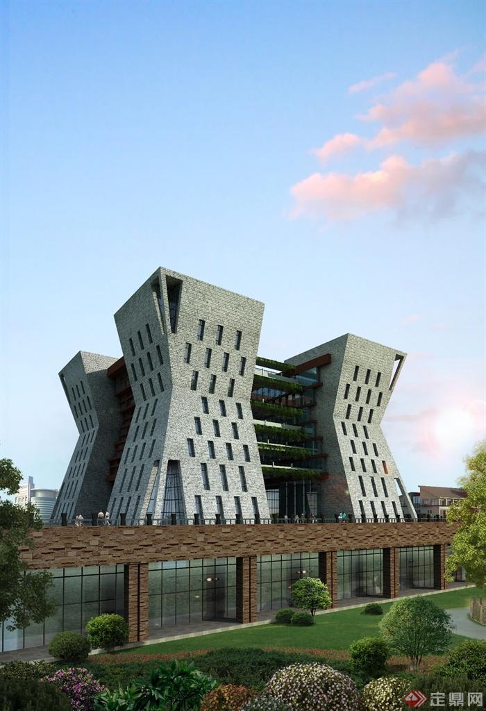 仁怀市某大学图书馆设计