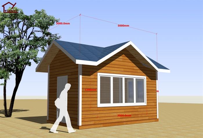 岗亭木屋设计su模型