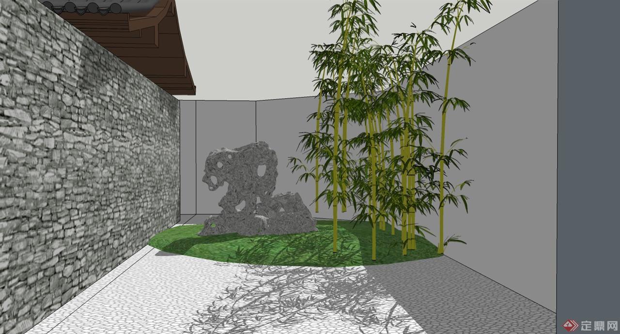 手绘景观植物小景组合表现