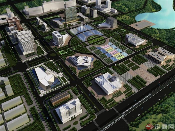 某地新区行政中心城市设计jpg方案图[原创]