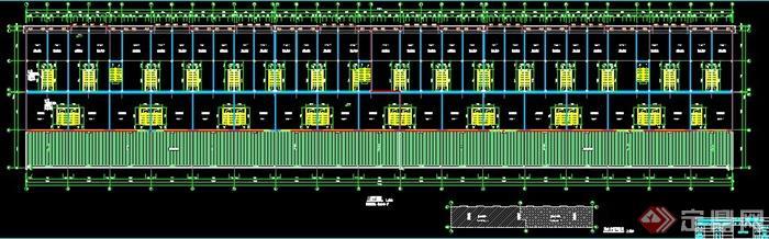 某三层商铺框架钢结构施工图