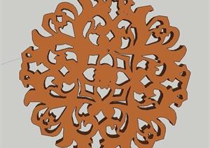 多款古典中式木质门窗雕花设计SU(草图大师)模型
