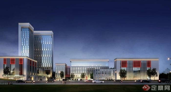 灾备数据中心建筑cad方案设计含效果图cad动画装配图片