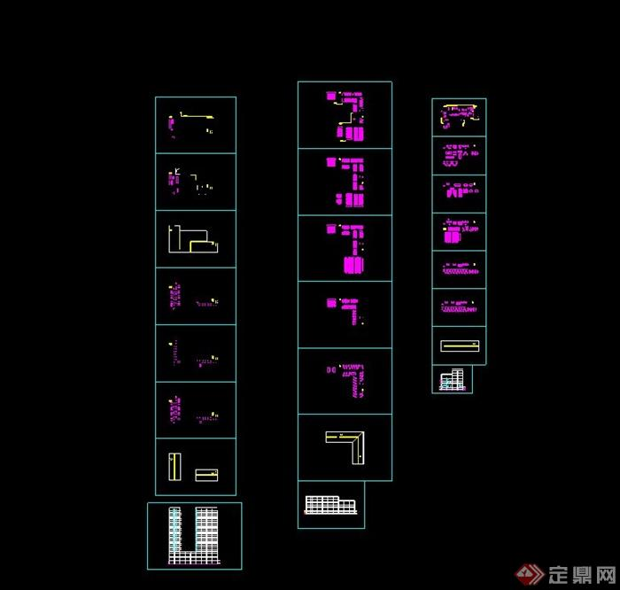 灾备数据中心建筑cad方案设计含效果图cad打印拼图图片