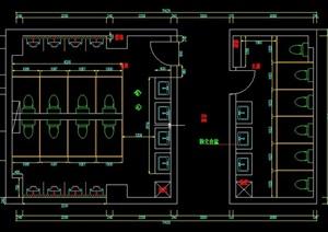 图书室改卫生间室内设计cad图