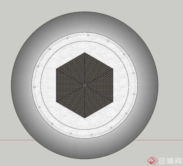 海上灯塔建筑su模型(2)