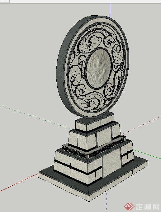 园林景观石小品雕塑设计su模型[原创]