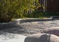 鹅卵石铺装,石头,花坛