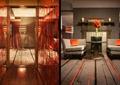 酒店客房空间,形象墙,沙发茶几