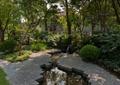 酒店庭院景观,流水景观,园路,灌木球