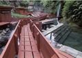 山谷木栈道,温泉水池景观