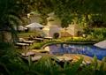 庭院景观,水池水景,水池驳岸,躺椅