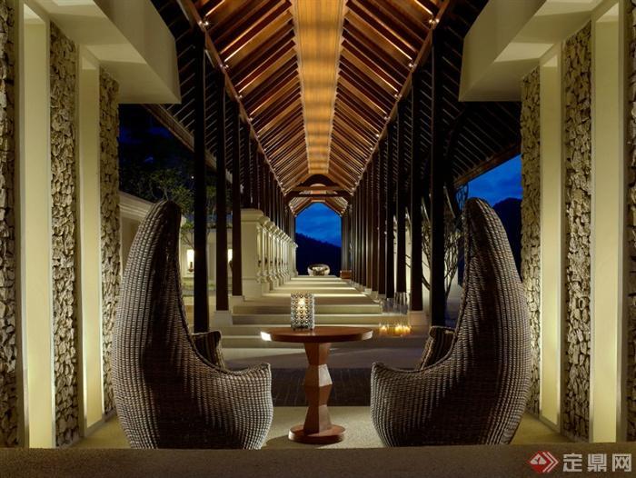 长廊架,休闲桌椅,地灯