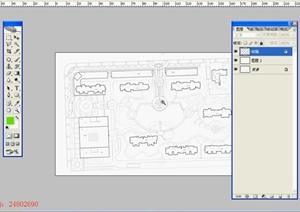 小区彩色平面图制作设计ps手绘流程教程