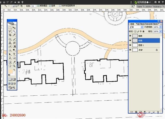 ps形式平面图教程视频分享_设计图展示彩色装修设计图片
