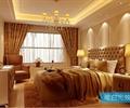 卧室,床,床头柜,台灯,电视柜,布艺窗帘,吊灯