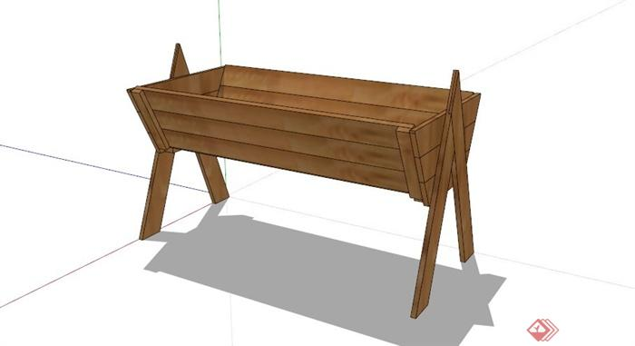 某木质花箱su模型(4)