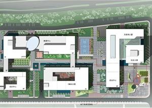 某软件产业园建筑与景观设计整套方案(cad图+jpg图)图片