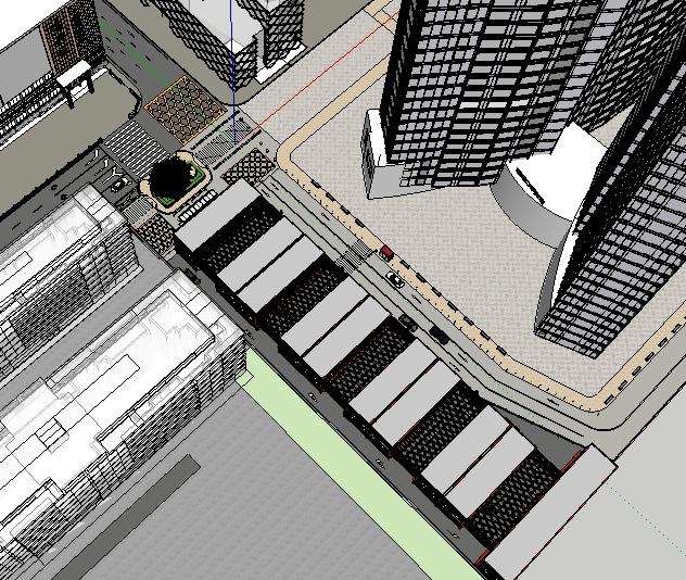 五层立体停车库建筑SU精致设计模型