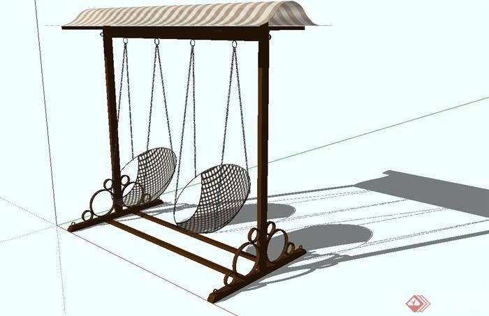 秋千椅子设计su模型