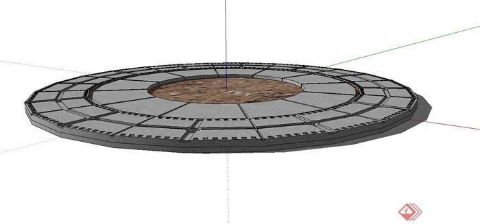 现代树池盖板设计su模型(2)