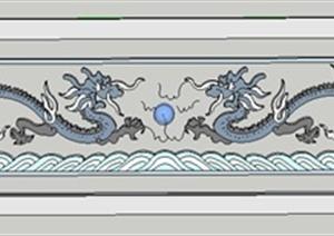 古典中式龙图腾设计SU(草图大师)模型
