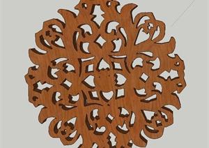 多款古典中式木质门窗楼花花纹设计SU(草图大师)模型