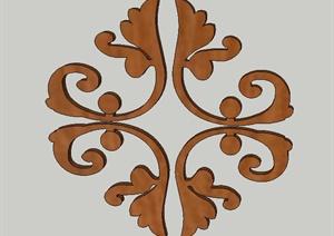 多款室内木质门窗漏窗花纹设计SU(草图大师)模型