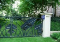 铁艺大门,围墙栏杆