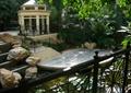 滨水景观,亲水平台,跌水池,跌水墙,景观亭,自然景石