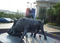 铁牛雕塑,雕塑小品,雕塑水景