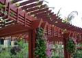 木质弧形廊架