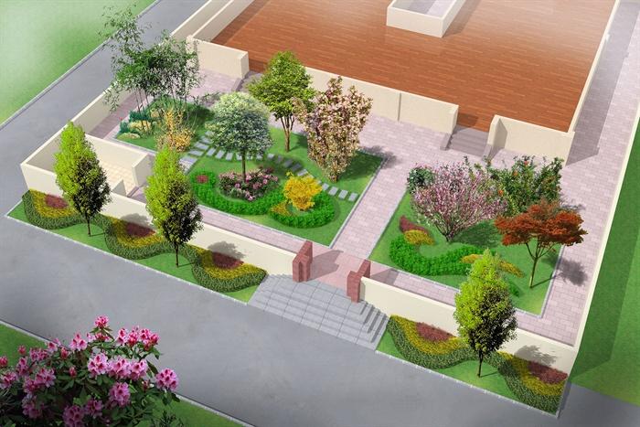 方案庭院设计绿化cad别墅图、psd效果图[原创家周杰伦别墅图片