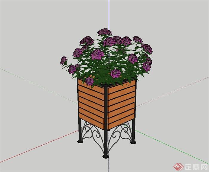 某欧式花箱设计su模型