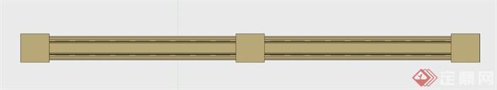 欧式栏杆su模型(2)