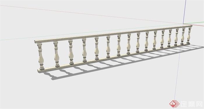 某欧式护栏设计su模型(1)