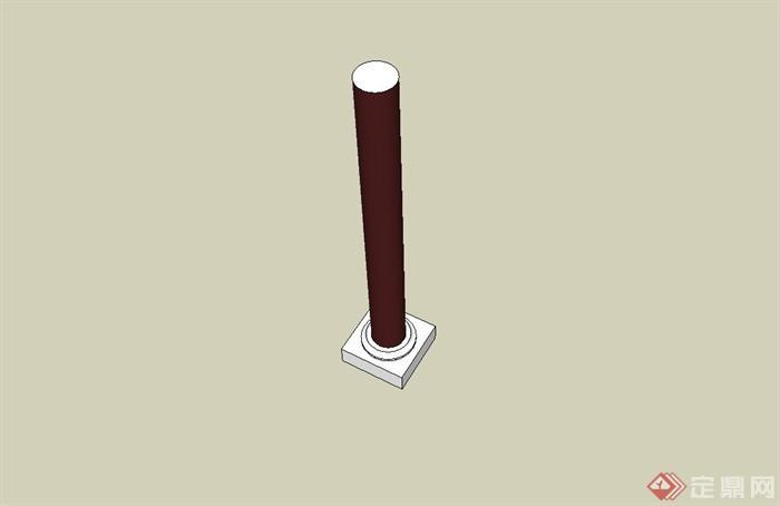 古典中式柱子设计su模型