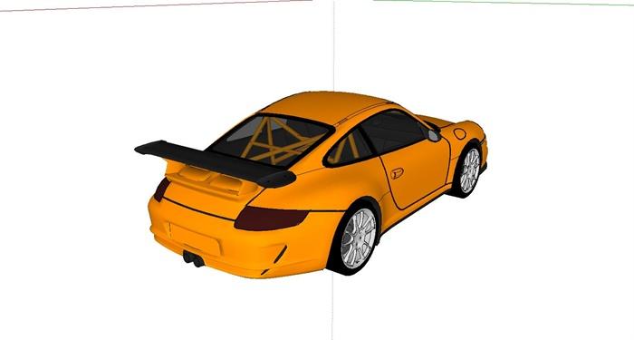 保时捷911gtr跑车设计su模型