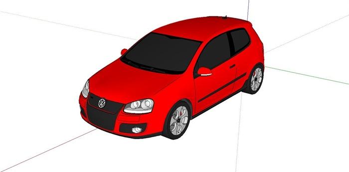 大众高尔夫gti设计su模型
