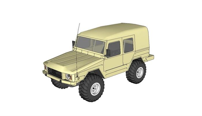 大众越野车设计su模型
