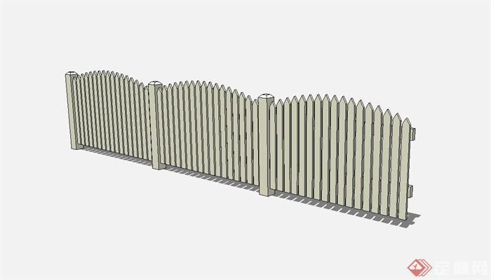 木质围栏护栏设计su模型[原创]
