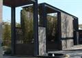 小区大门,大门入口景观,喷泉水池,门廊,门卫室