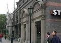 咖啡厅外墙,商铺入口,拱形门洞,罗马柱雕花,路灯