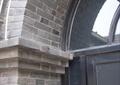 拱形门洞,门窗线条