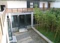 教学楼中庭景观,玻璃门窗,围栏,护栏