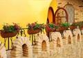 栏杆花架,花盆,围墙,外墙石材