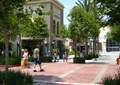商业街,方形树池