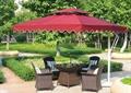 遮阳伞坐凳组合,遮阳伞,休闲桌椅,树池
