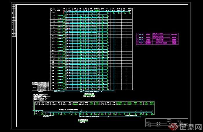 某框架结构高层住宅楼cad施工详图[原创]