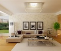 客厅,装饰画,沙发组合,茶几,空调